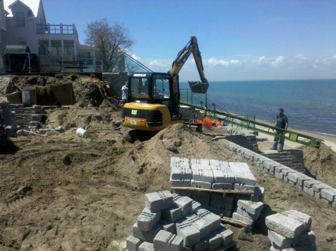 retaining walls are important hardscapes for beach properties