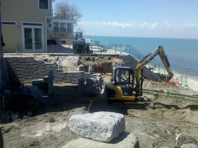 how to install retaining walls on beach property