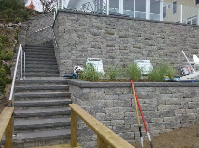Bricks and patio pavers for hardscape design