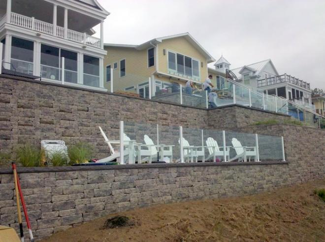 Install retaining walls on beach property