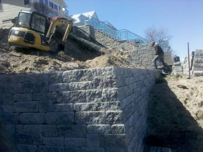 retaining wall functions for beach landscaping