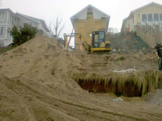 how are retaining walls installed