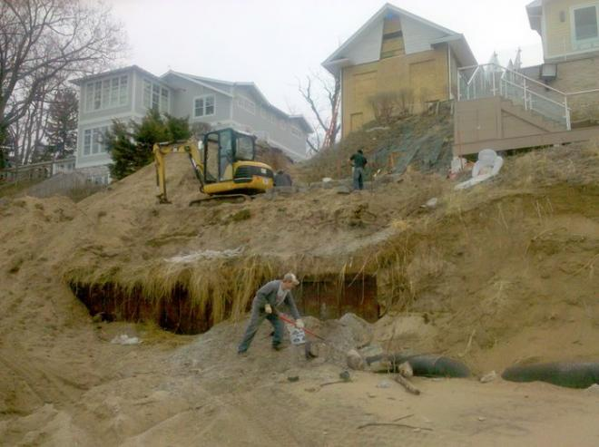 steps to install hardscapes on a beach