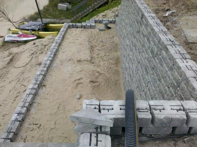 types of bricks used for retaining walls