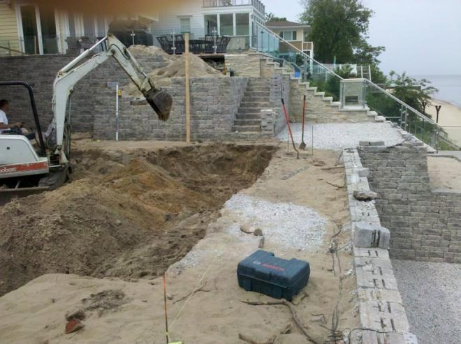retaining wall using bricks from trusted manufacturers