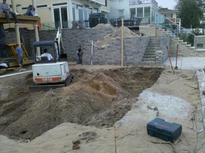 retaining wall and patio paver installation MI