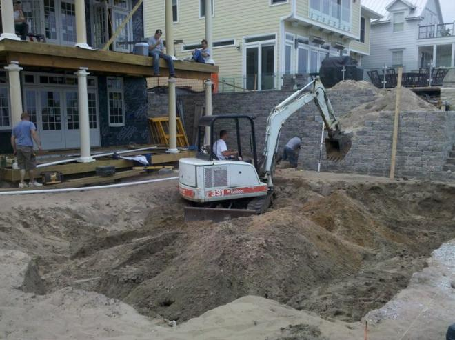 level ground for patio pavers