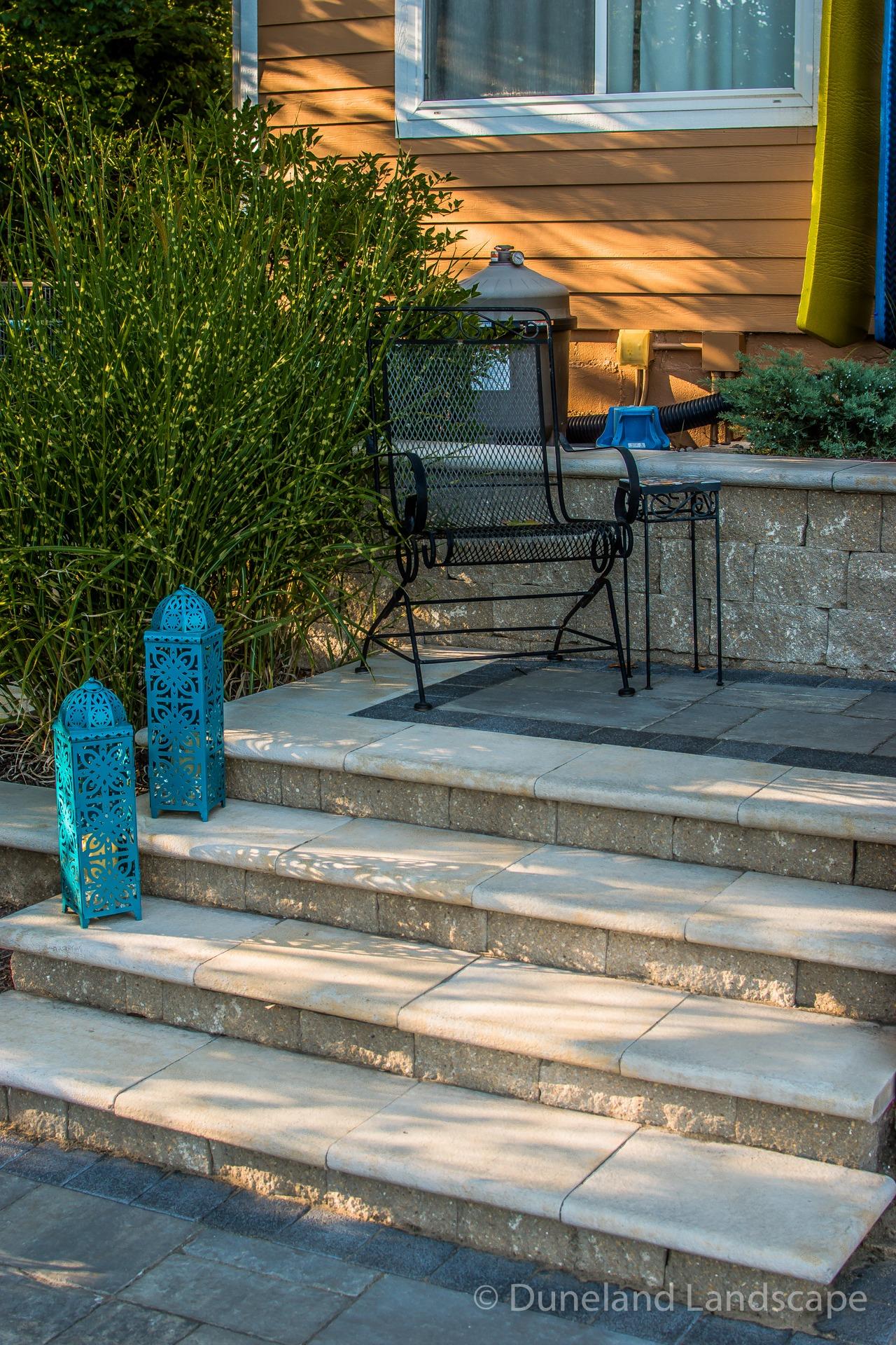 sleek and modern patio staircase