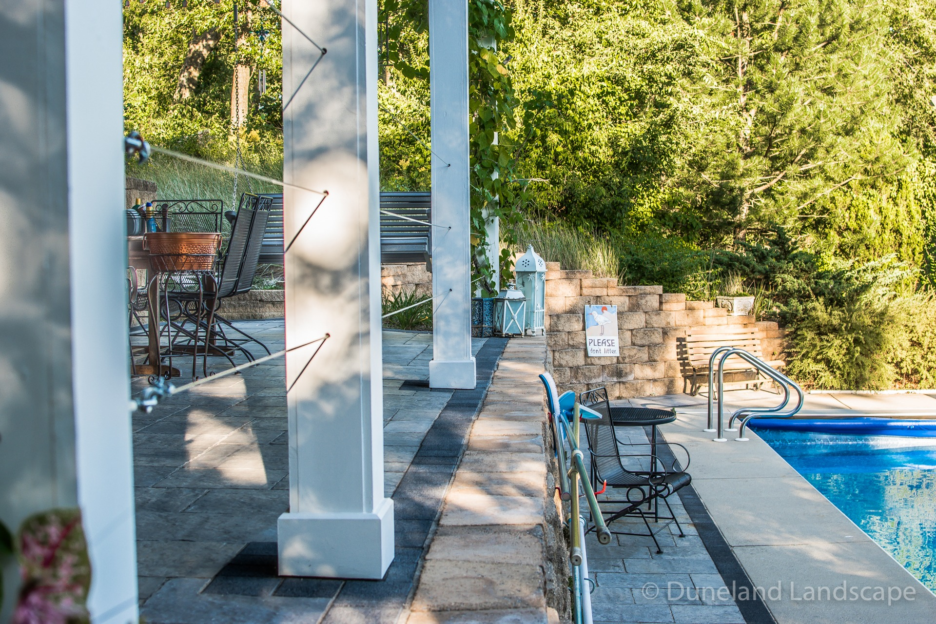 patio paver installation for pool deck