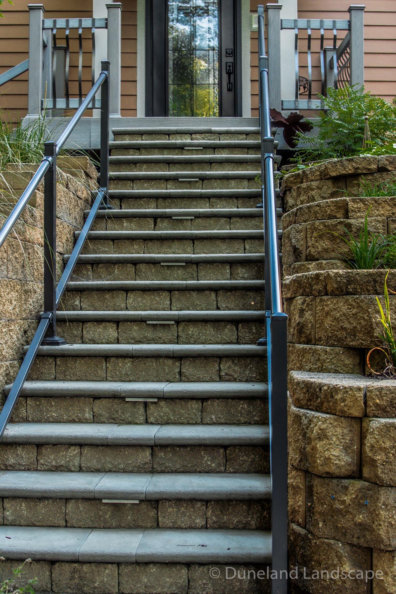paver brick front porch steps