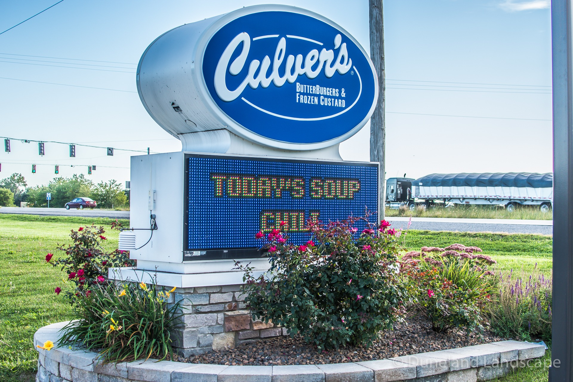 landscaping design for Indiana Culver's