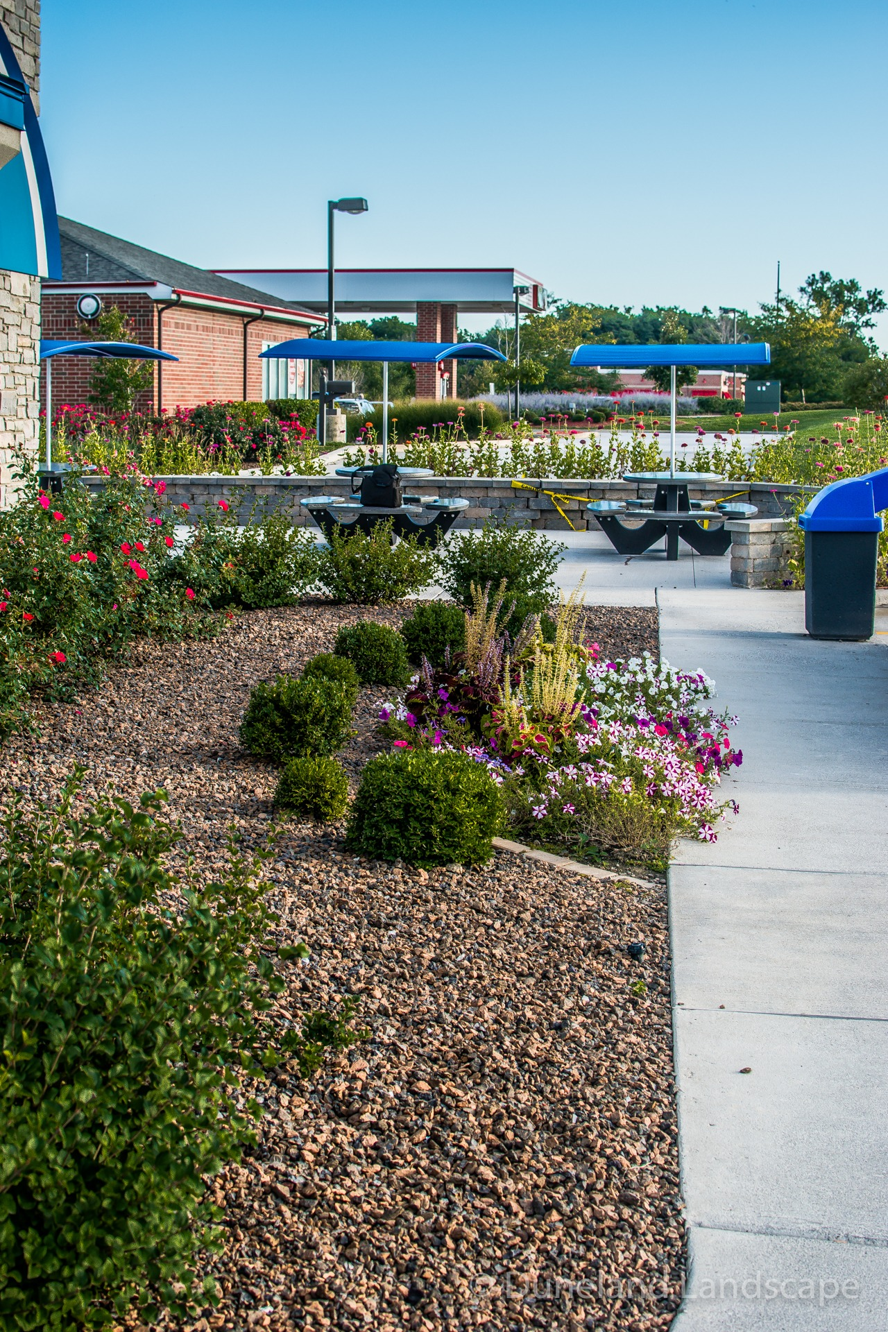 landscaping design at Chesterton Culver's