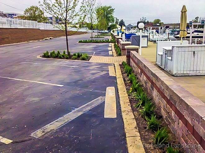 plant and brick landscape edging
