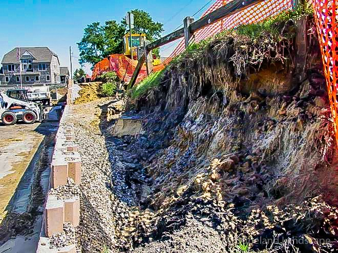 lake michigan landscapers for retaining wall