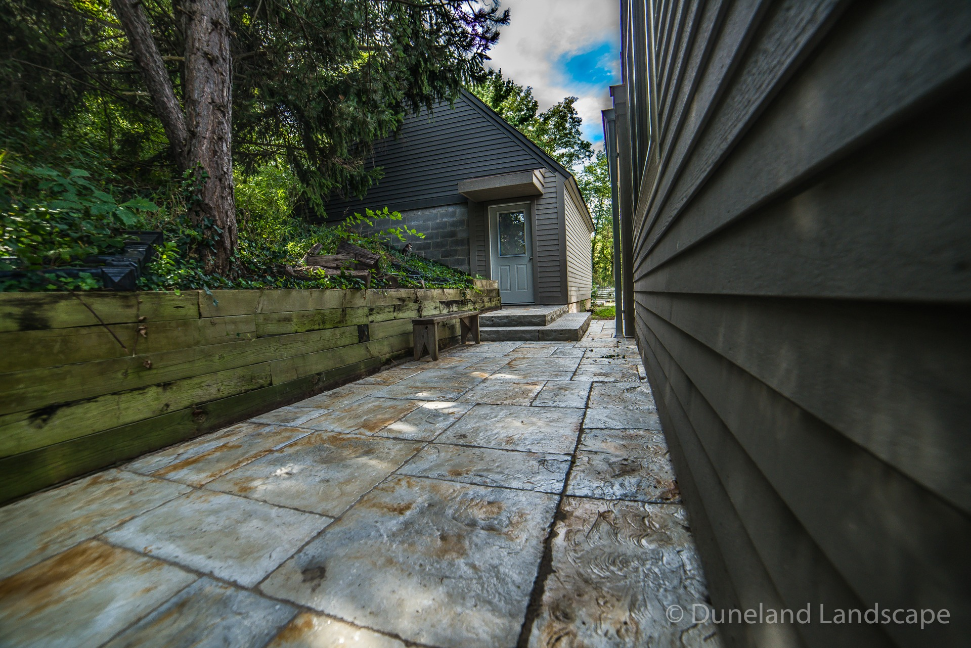 earthy patio pavers for sidewalk