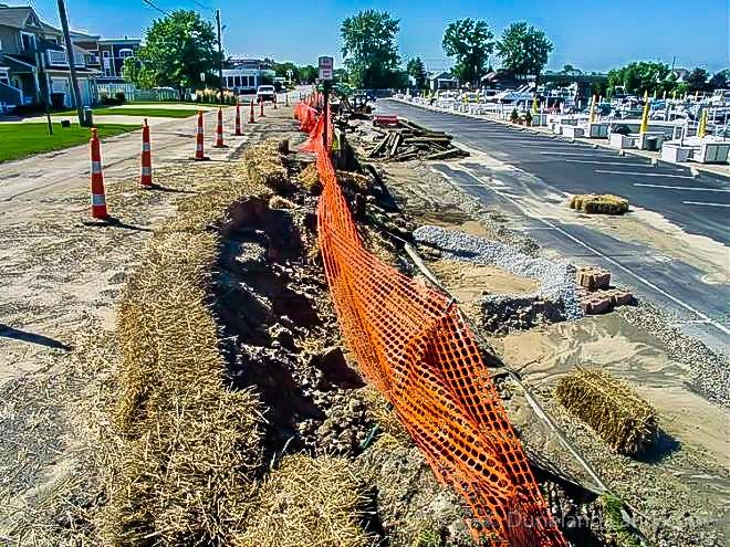 marina parking lot landscape construction