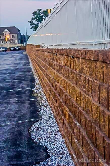 custom red brick retaining wall