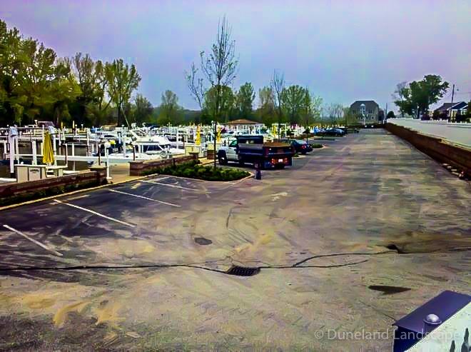 hardscape parking lot design and install