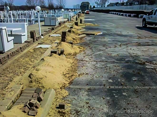 Lake Michigan parking lot pavers