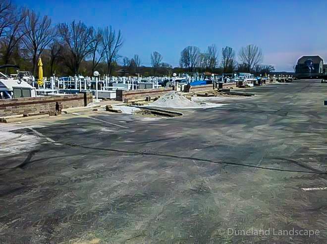 parking lot hardscape redesign