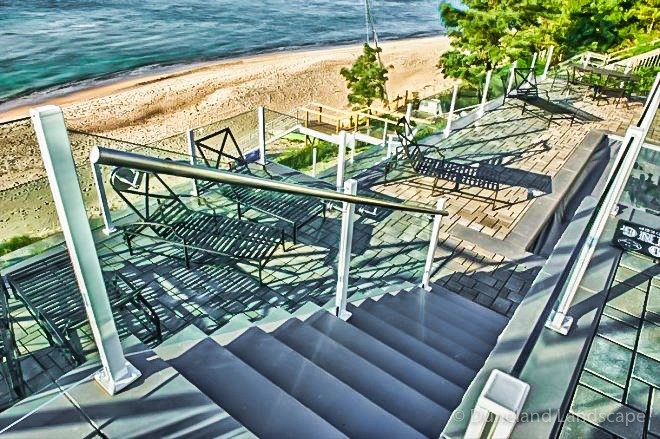 staircase installation for beachfront property