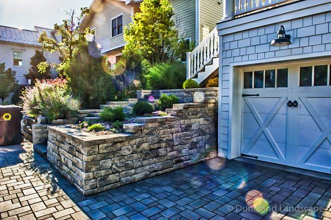 add structure to your driveway with retaining walls