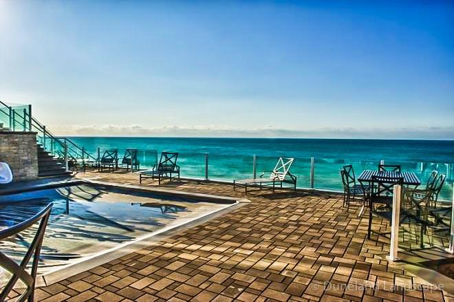 patio oasis on beachfront property