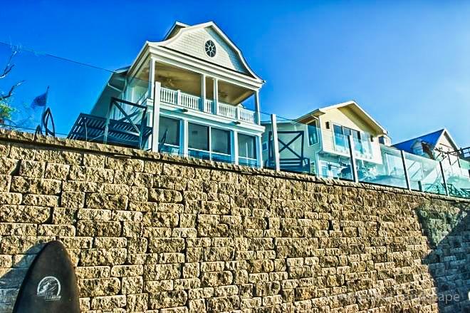 lakeside homes need protective retaining walls