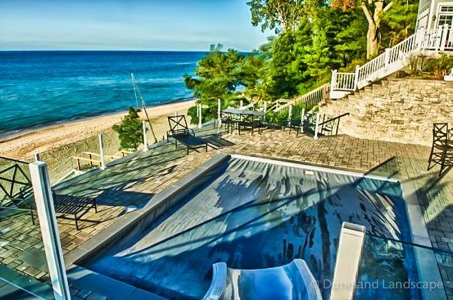 patio pool hardscape install