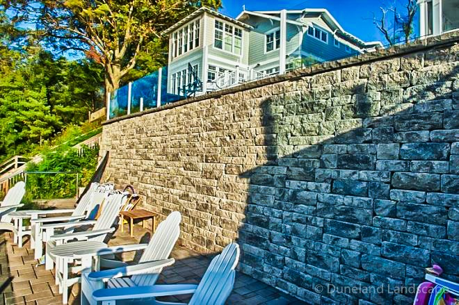 backyard retaining wall design