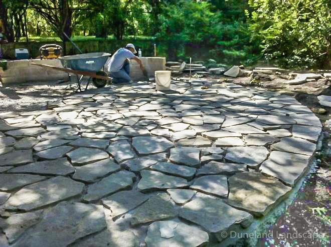 Backyard installion process