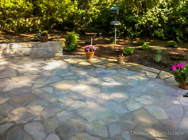 stones and landscaping