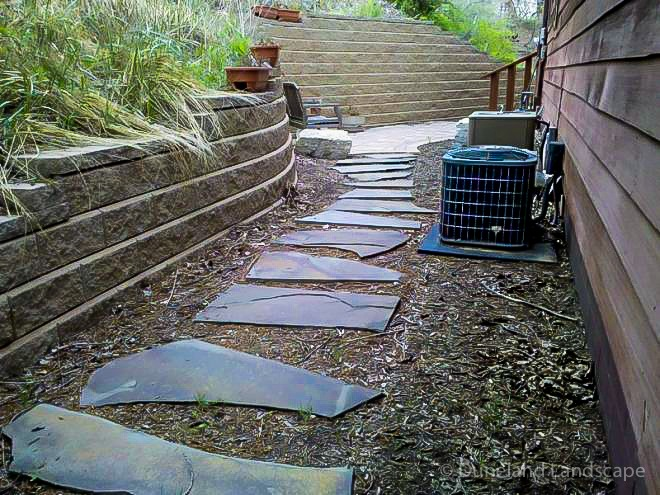 patway and retaining wall project, Porter Indiana