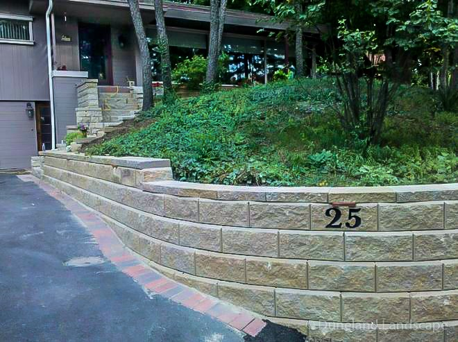 Retaining wall design by Duneland Landscaping