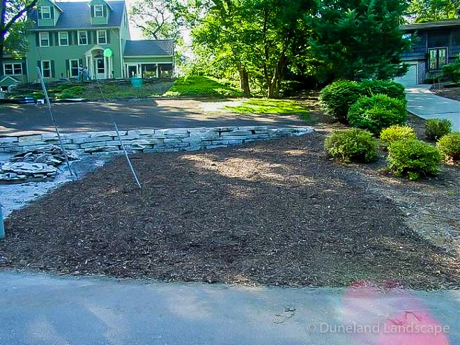 landscaping project by Duneland Landscaping