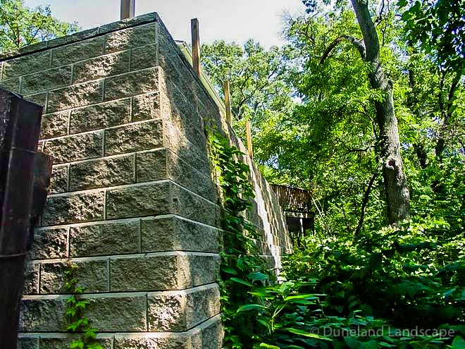 retaining walls for lake home in Indiana