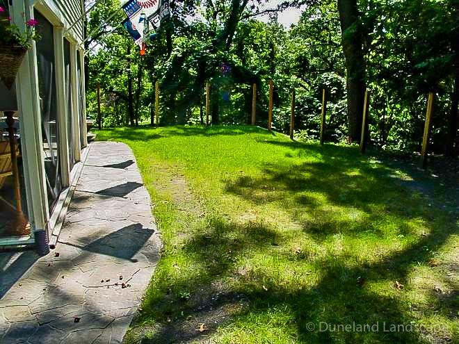lawn care backyard in Indiana