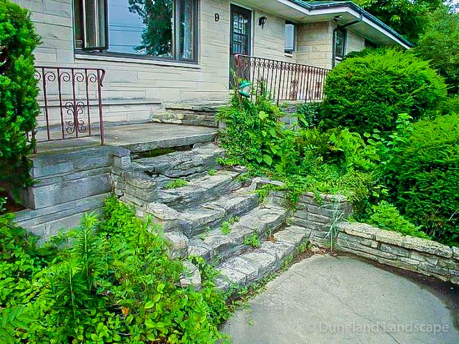 old outdoor stairway before udpate by Duneland