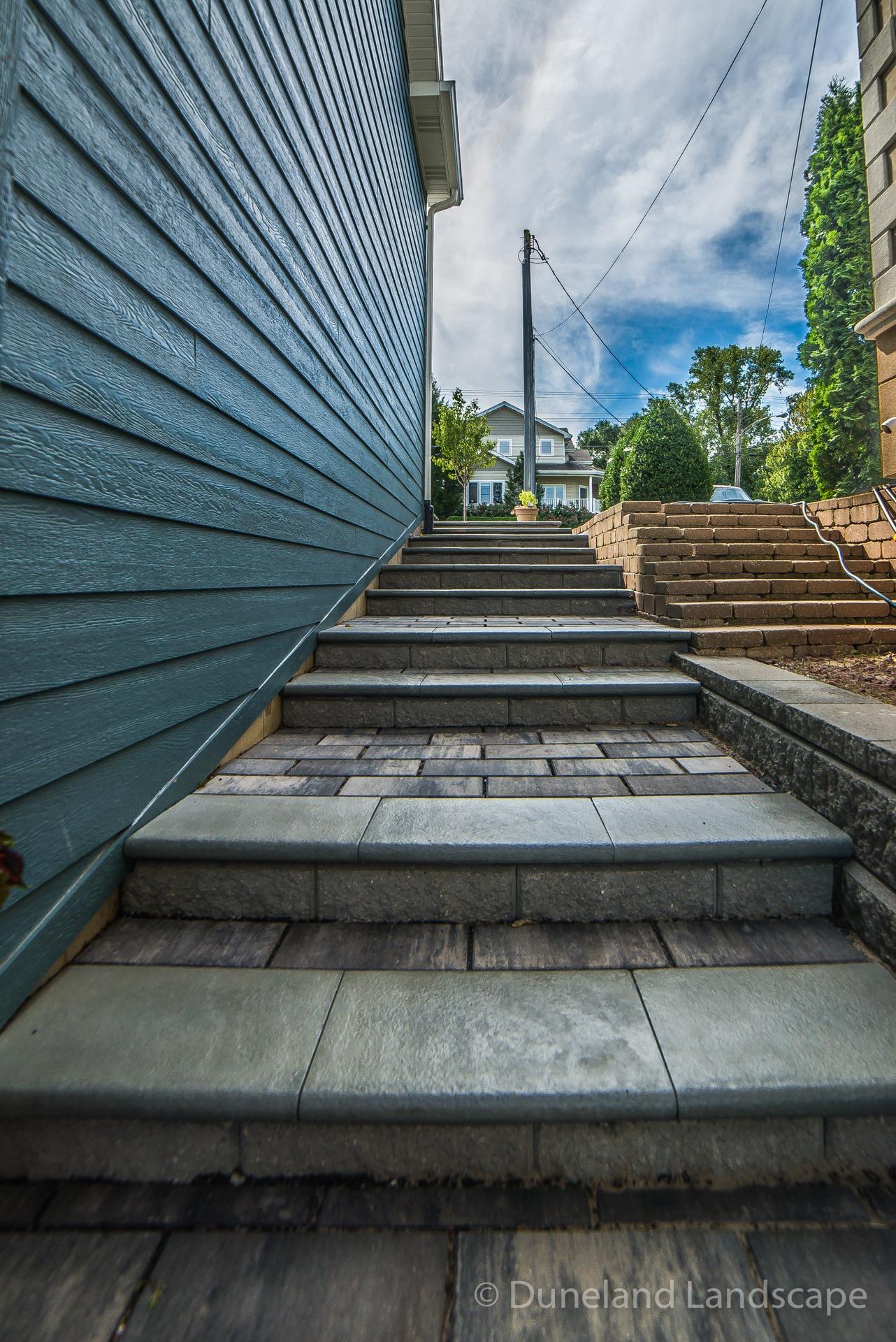 brick patio staircase design