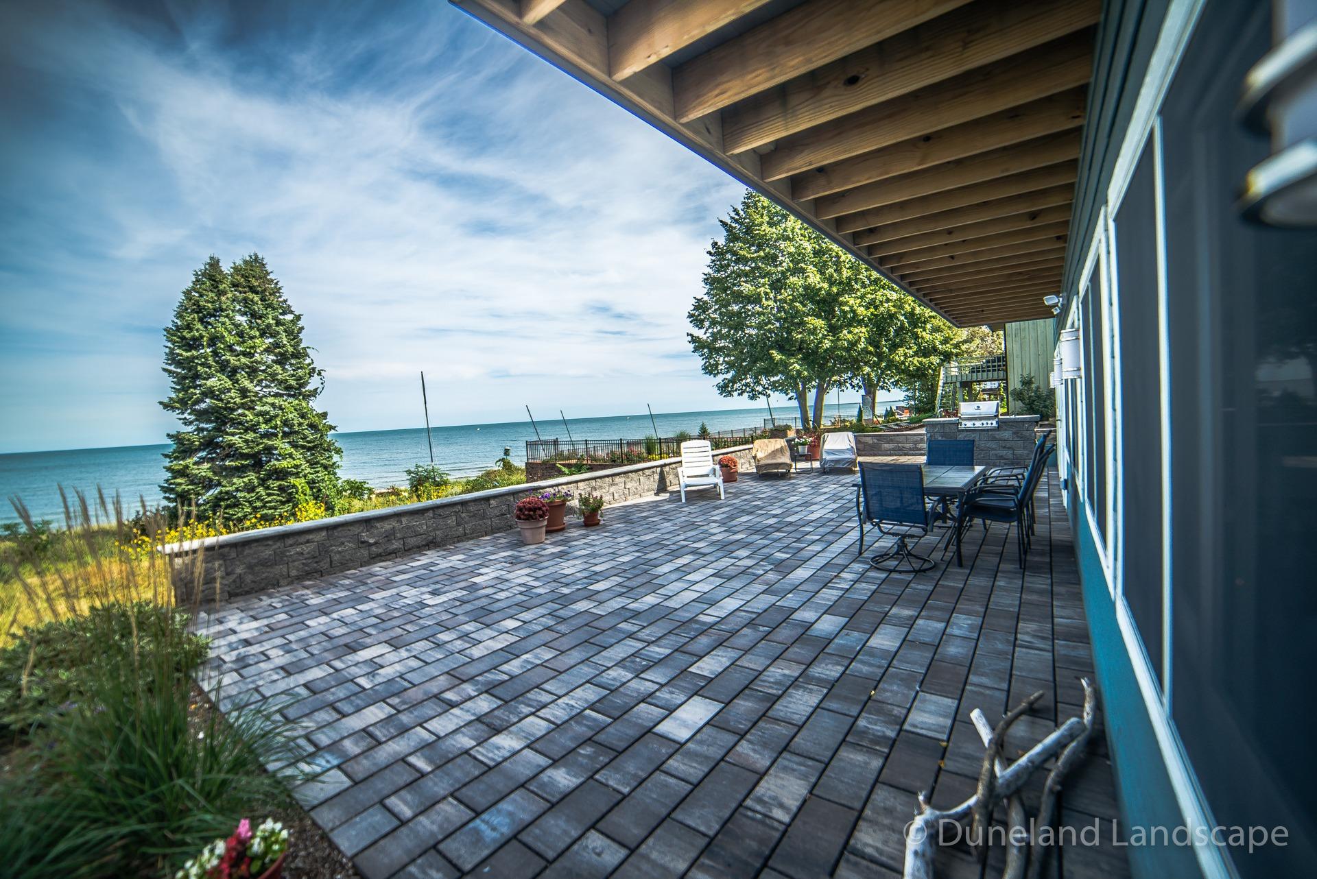 Custom paver brick patio design