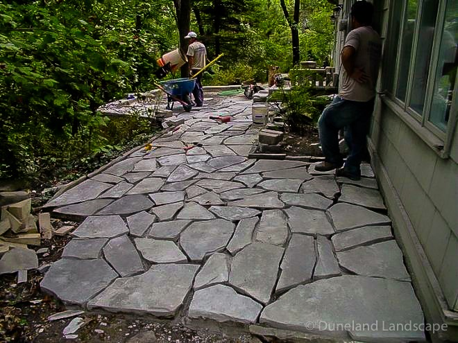 professional hardscaping install process
