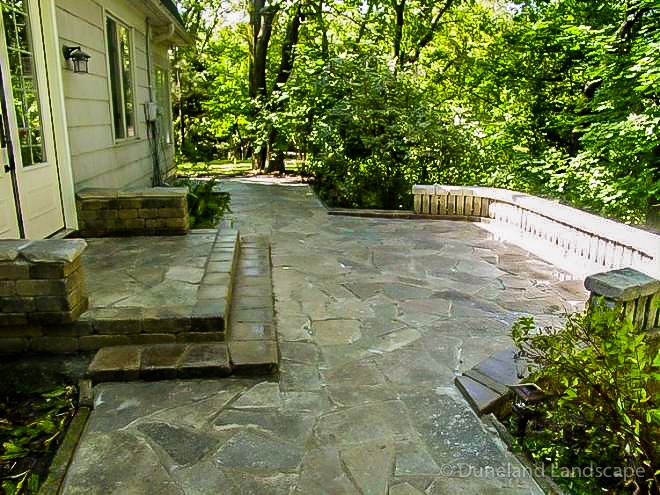 flagstone patio ideas and installation
