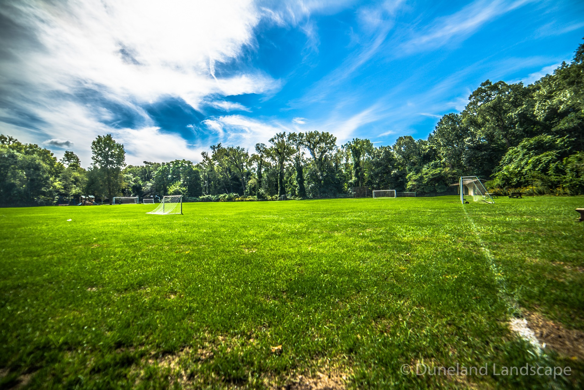 park soccer field grass maintenance