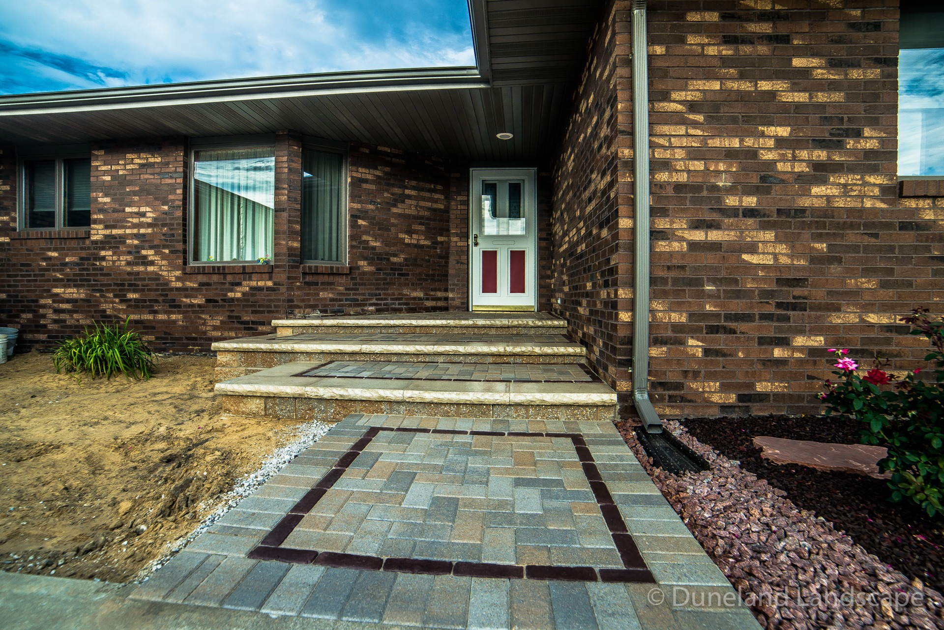 custom brick paver design