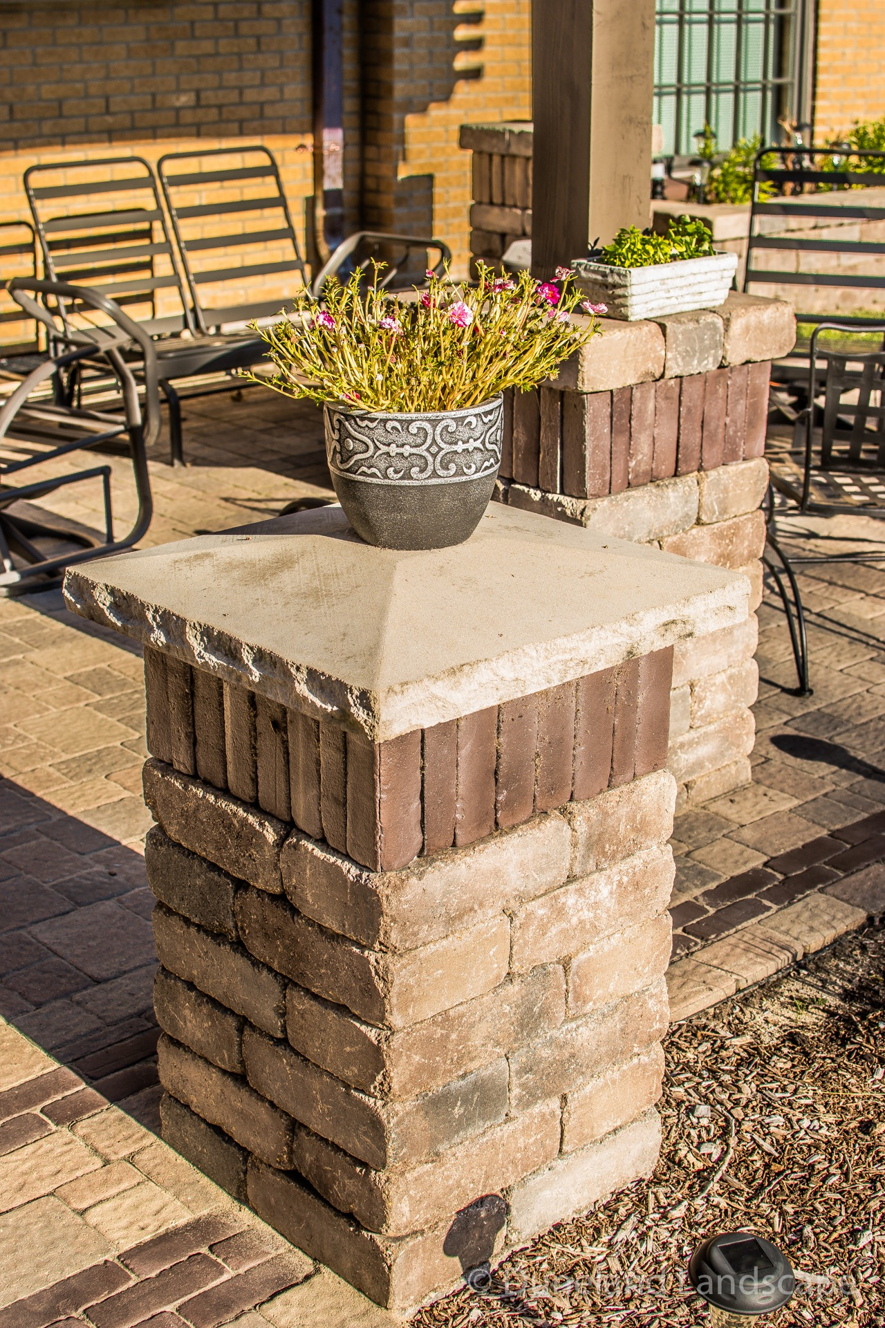 brick landscape pillars