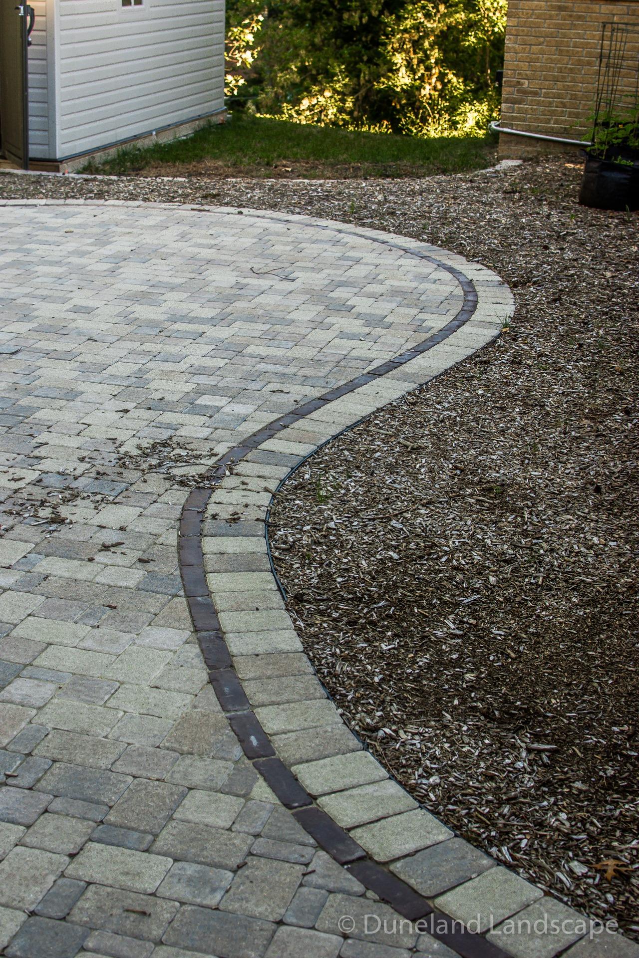custom brick edging for patio