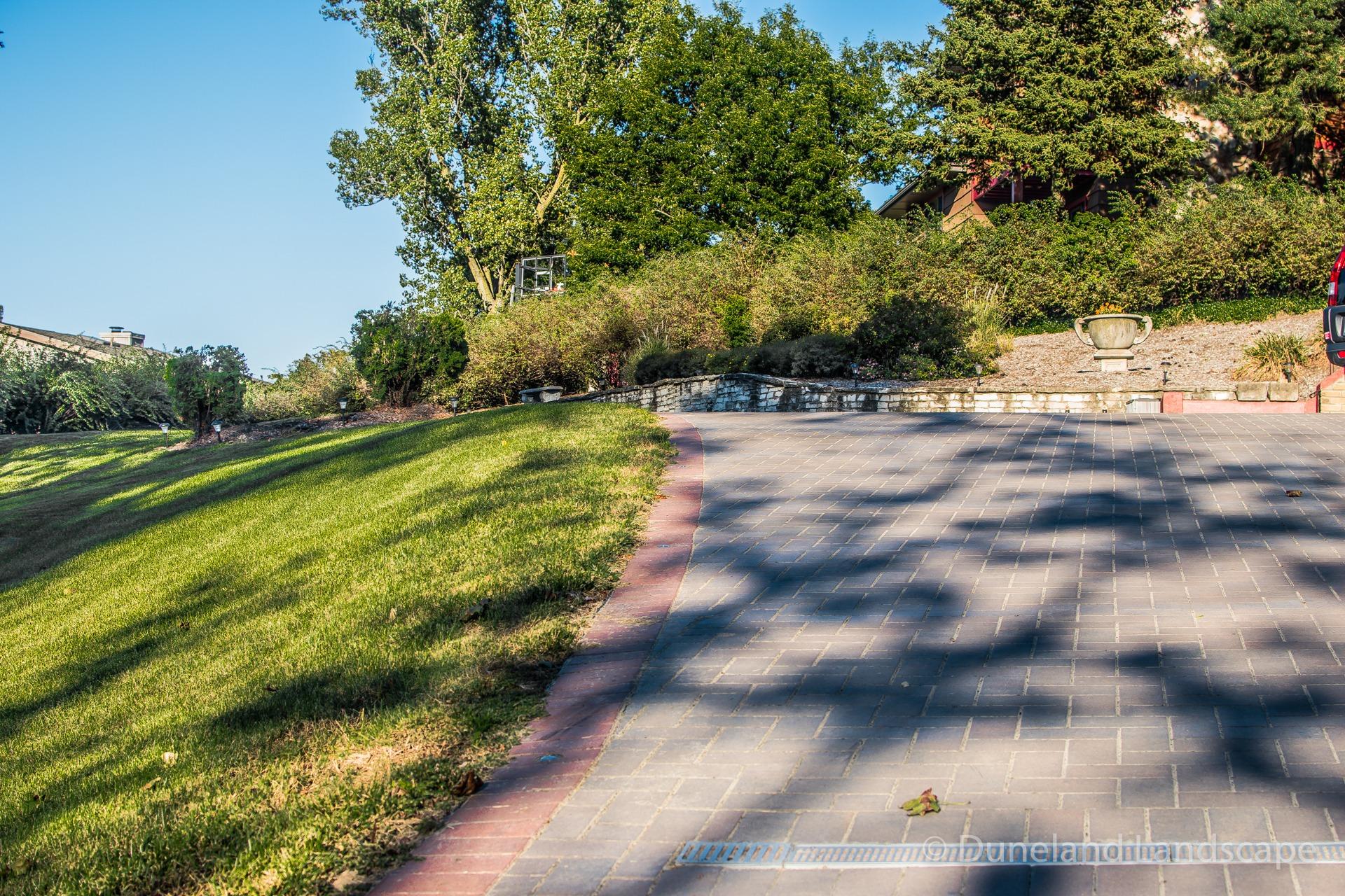 spacious brick paver patio installation