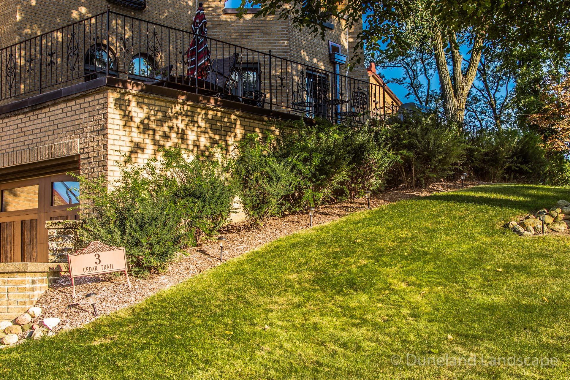 using bushes in landscape design