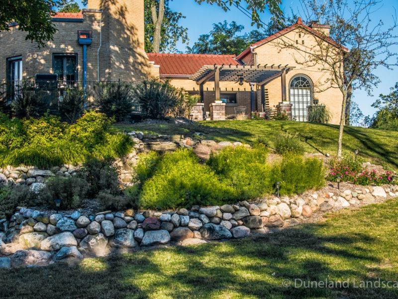 rock and shrub landscape design