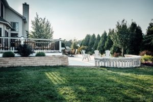 Backyard landscape maintenance